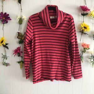 🦋3/$30🦋 L.L Bean pink striped turtle neck